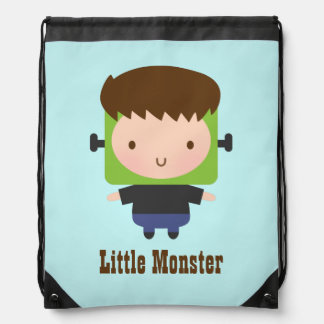 Cute Boy Frankenstein Monster Kids Halloween Drawstring Bag