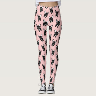 Cute brindle Frenchie is a dreamer Leggings