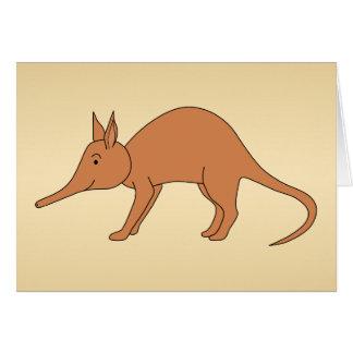 Cute Brown Aardvark Card