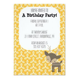 Cute Brown Deer Party Invitation