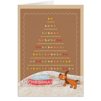 cute brown dog Christmas card