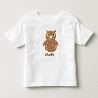 Cute Brown Owl, and name, toddler tshirts