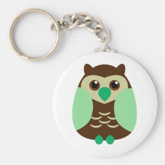 Cute Brown Owl Key Ring