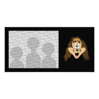 Cute Brown Shaggy Dog. Personalized Photo Card