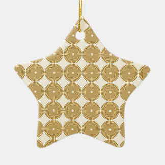 Cute Brown Tan Circles Disks Poker Chips Pattern Christmas Ornament