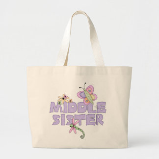 Cute Bugs Middle Sister Large Tote Bag