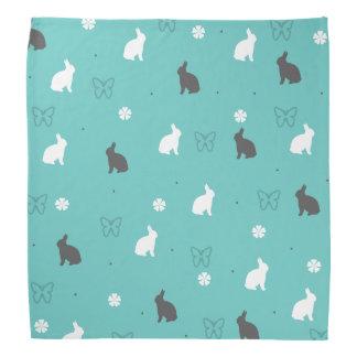 cute bunny flower and butterfly pattern kerchiefs