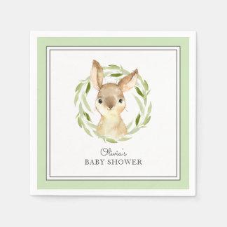 Cute Bunny Rabbit Baby Shower Disposable Napkin