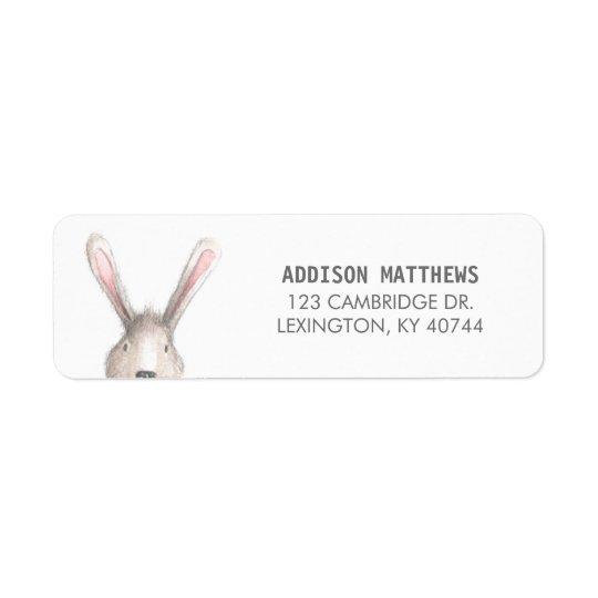 Cute Bunny Return Address Label