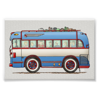 Cute Bus Tour Bus Photographic Print