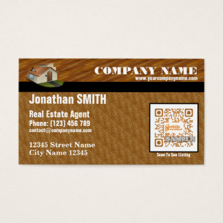 Cute business card for real estate agent