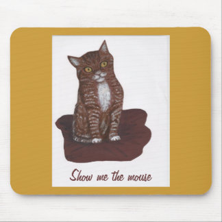 cute but hissy cat mouse pad