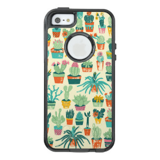 Cute Cactus Flower Pattern OtterBox iPhone 5 Case