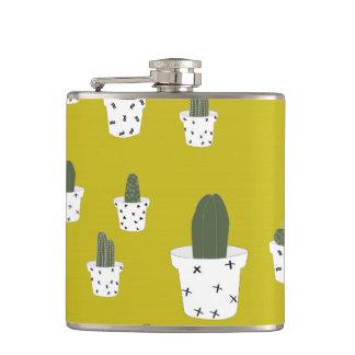 Cute Cactus Pattern Hip Flask