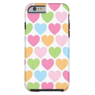 Cute candy hearts girly iPhone 6 case for girls Tough iPhone 6 Case