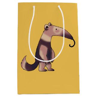 cute cartoon anteater medium gift bag