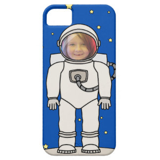 Cute Cartoon Astronaut Photo Costume Template Barely There iPhone 5 Case
