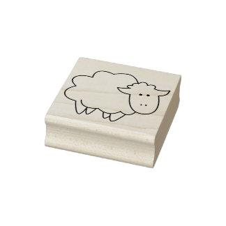 Cute Cartoon Baby Sheep Farm Animal Rubber Stamp