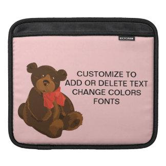 Cute cartoon bear iPad sleeve
