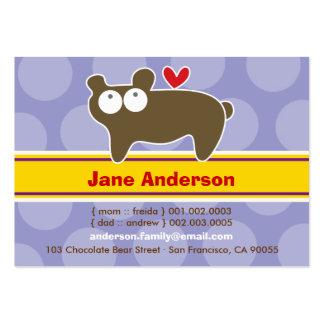 Cute Cartoon Bear Kid Photo Profile Calling Card Business Cards