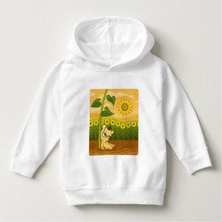 Cute Cartoon Bear with Sunflowers Hoodie