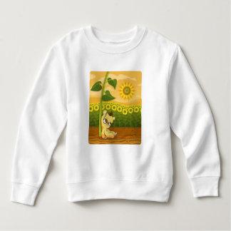 Cute Cartoon Bear with Sunflowers Sweatshirt