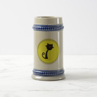 Cute Cartoon Black Cat Coffee Mugs