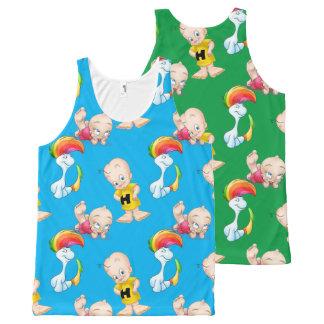 Cute Cartoon boy and unicorn tank top shirt