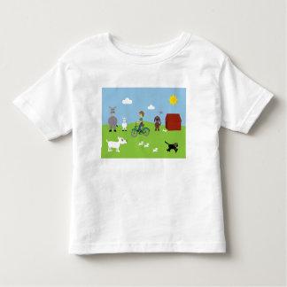 Cute Cartoon Boy & Animals Customizable Charity Tshirt