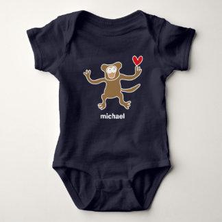 Cute Cartoon Brown Monkey Fun Kid's T-Shirt