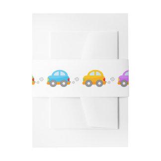 Cute Cartoon Cars Invitation Belly Band