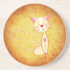 Cute Cartoon Cat Coaster
