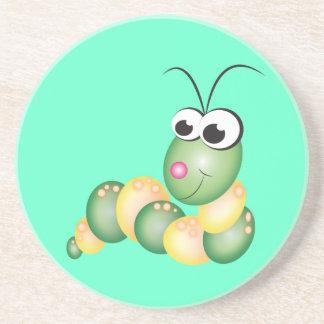 Cute Cartoon Caterpillar Coaster