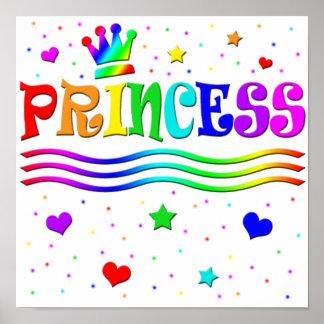 Cute Cartoon Clip Art Rainbow Princess Tiara Print