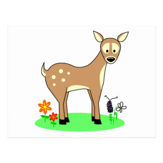 Cute Cartoon Deer Postcard