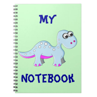 Cute Cartoon Dinosaur Spiral Note Book