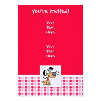 Cute Cartoon Dog 5x7 Paper Invitation Card