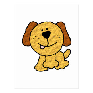 Cute Cartoon Dog Postcard