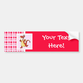 Cute Cartoon Dragon Bumper Sticker