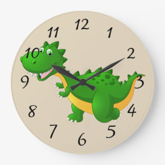 Cute cartoon Dragon Large Clock