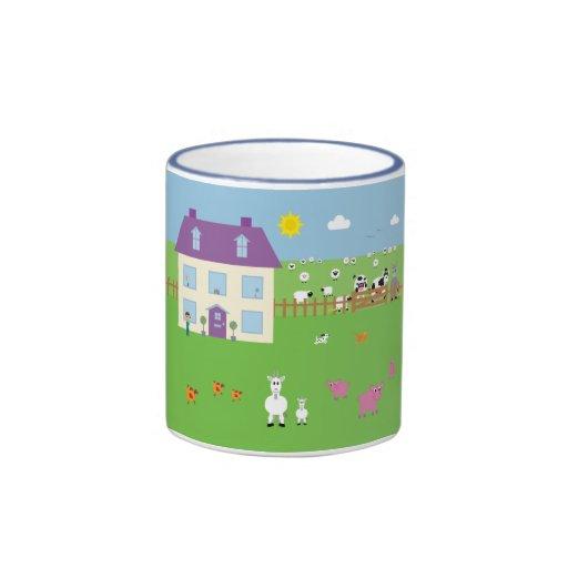 Cute Cartoon Farm & Animals Mug