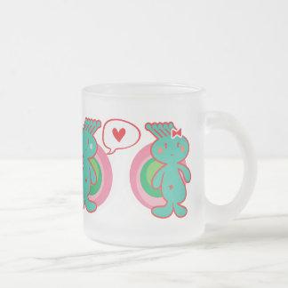 Cute Cartoon Fun Sweet Funny Funky Frosted Glass Mug