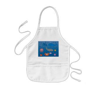 Cute Cartoon Marine Life Apron