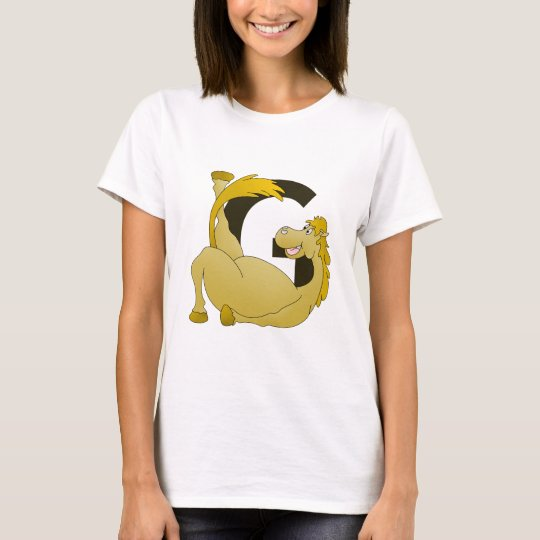 Cute Cartoon Monogram Pony G T-Shirt