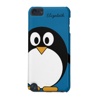 cute cartoon penguin blue background iPod touch (5th generation) covers