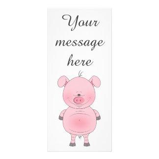 Cute Cartoon Pig Rack Card