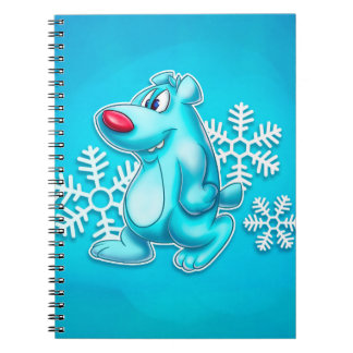 cute cartoon polar bear notebook