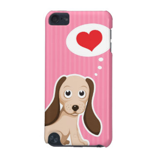 Cute cartoon puppy dog with heart iPod touch case