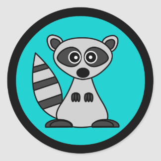 Cute Cartoon Raccoon Stickers