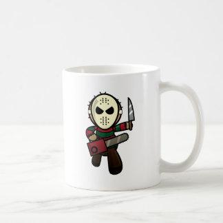 Cute Cartoon Serial Killer Basic White Mug